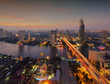 Chao Phraya River at sunset, Bangkok City, Thailand