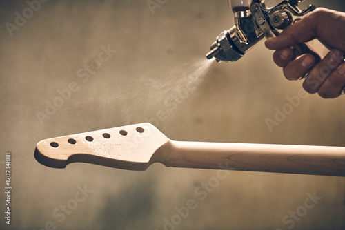 Fotografía  Manufacture of guitars of the Ukrainian brand Woodstock.