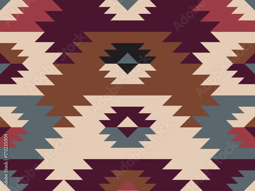 Photo sur Aluminium Style Boho Abstract ethnic pattern. Background in navajo style