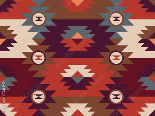 Foto auf AluDibond Boho-Stil Abstract ethnic pattern. Background in navajo style