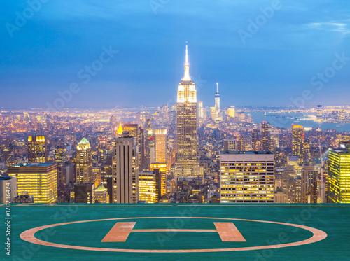 Fototapeta Zmierzchu panoramę Nowego Jorku.