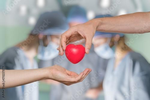 Fotografía  Heart transplant and organ donation concept