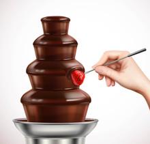Dip Strawberry Into Chocolate ...