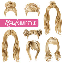 Coiffures For Blond Women Set