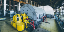 Steam Turbine At Power Plant