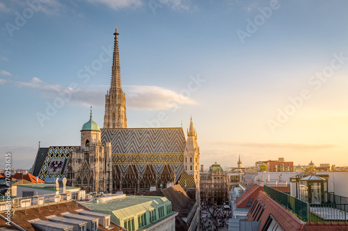 Vienne Vienna Skyline with St. Stephen's Cathedral, Vienna, Austria
