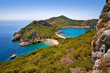 wonderful beach porto timoni near agios stefanos, corfu island, greece