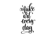 Make Art Every Day - Hand Lett...