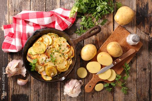 potato gratin Fototapete