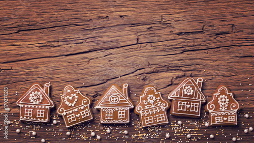 Photo  Gingerbread home cookies
