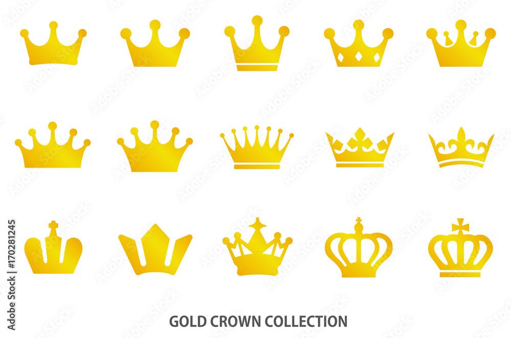 Fototapeta Gold crown icon [vector]