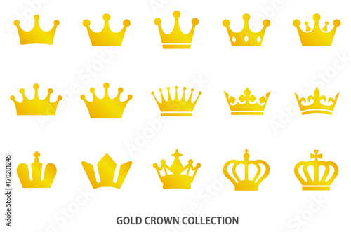 Gold crown icon [vector] Canvas