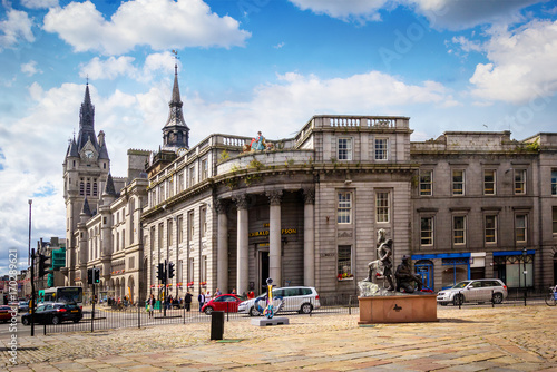 Photo Aberdeen, historic architecture, Town House,  Scotland, Great Britain
