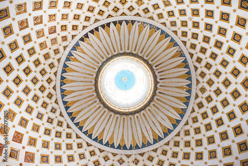 Poster Monument Interior detail of the dome of the Rotunda of Mosta, Malta