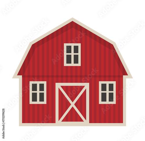Fotografia Farm building icon flat style