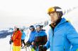 Ski holiday, Group of skiers, Sudelfeld, Bavaria, Germany
