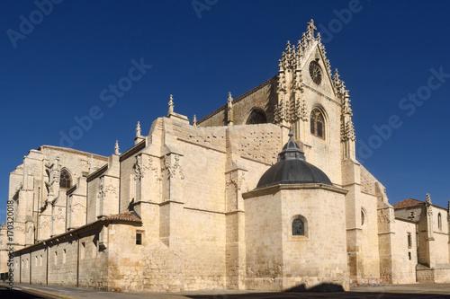 Rear facade of the cathedral of Palencia, Castilla y Leon, Spain