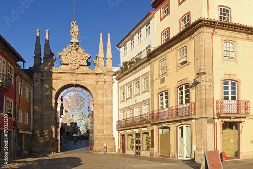 Fotografie, Obraz  City gate, Braga Portugal