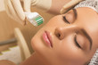 Leinwandbild Motiv Beautiful woman in beauty salon during mesotherapy procedure.