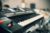black musical keyboard