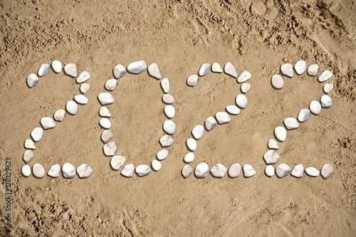 2022 - beach, sand, stones Plakat