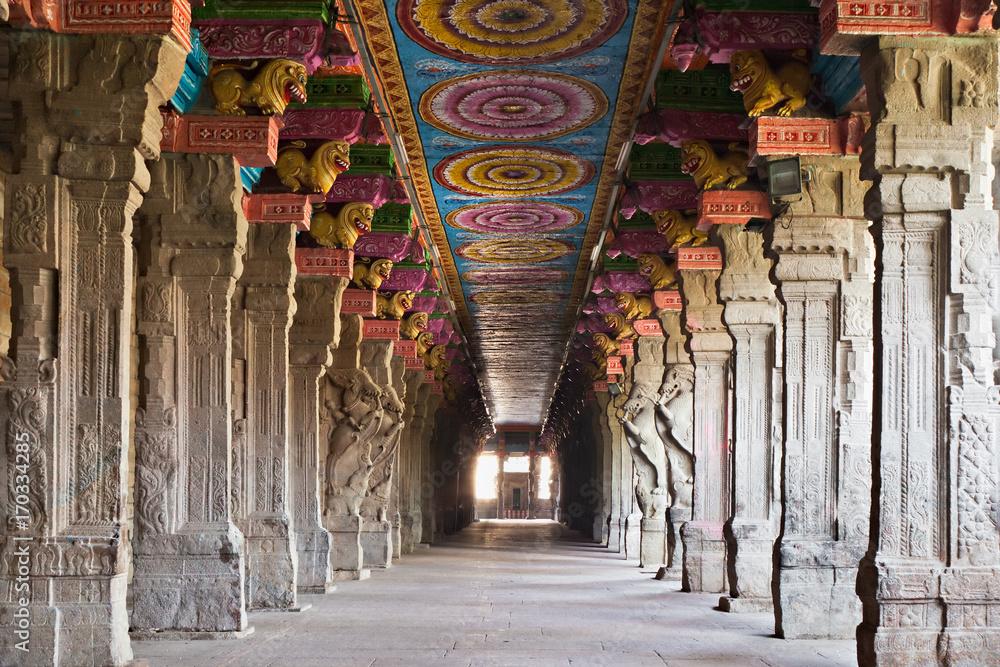 Fototapety, obrazy: Inside Meenakshi temple