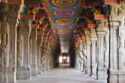 Printed kitchen splashbacks Place of worship Inside Meenakshi temple