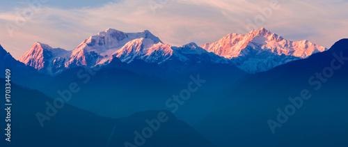 Plakat Widok na góry Kangchenjunga