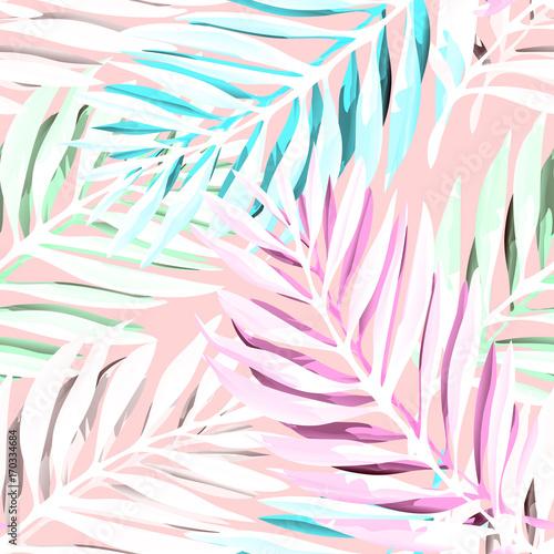 Foto  Tropical palm leaves pattern