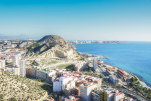 Panoramic View Of Serra Grossa And San Julian Mountain In Alicante, Provence Valencia, Spain