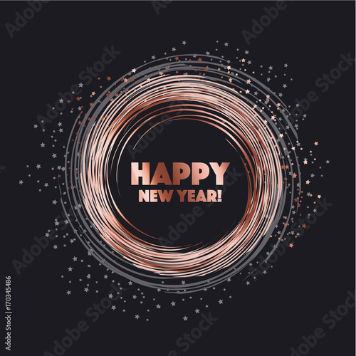 sparkling circle vector illustration new year abstract background for card header poster