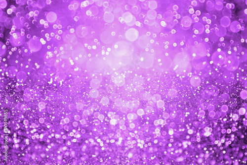 Dark purple glitter sparkle confetti background and invite for Halloween night, Mardi Gras, birthday party, club or Christmas