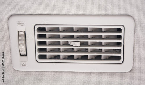air conditioning grille, car Canvas Print