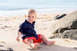 One Year Old Baby Boy at the Beach