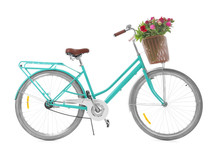 Stylish Bicycle With Basket An...
