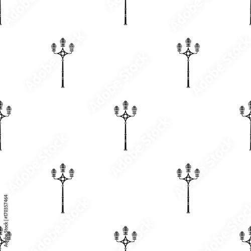 In de dag Abstractie Art Street lights in retro style. Lamppost single icon in black style vector symbol stock illustration web.