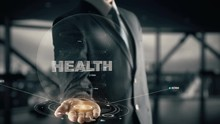 Health With Hologram Businessman Concept