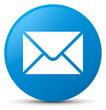Leinwandbild Motiv Email icon cyan blue round button