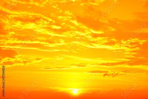 Fototapety, obrazy: 黄金色に輝く空