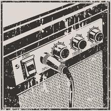 Guitar Amplifier Retro Style