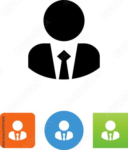 Fotografia, Obraz  Person Wearing Suit And Tie Icon - Illustration