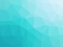 Abstract Turquoise Blue Gradient Low Polygon Shaped Background