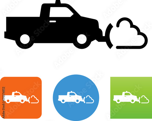 Snow Plowing Icon - Illustration Wallpaper Mural