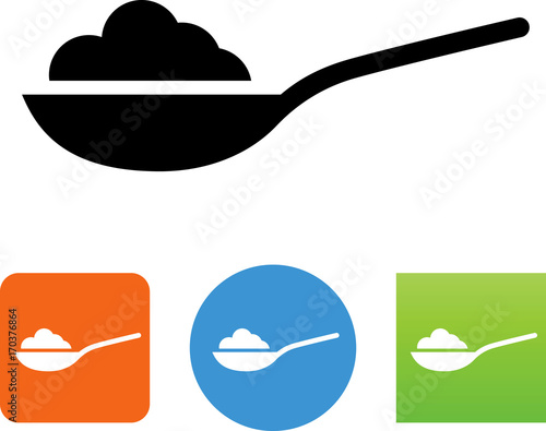 Fotografie, Obraz  Spoonful of Ingredients Icon