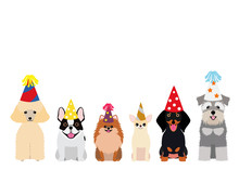 Smiling Small Dogs With Party ...