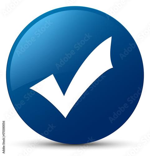 Fotografie, Obraz  Validation icon blue round button