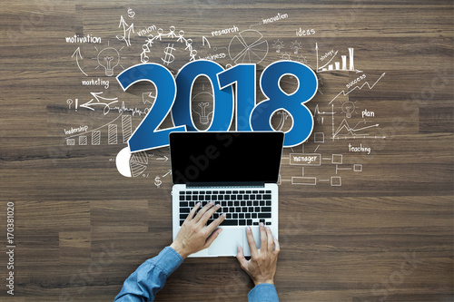 table chart design inspiration. Delighful Design 2018 New Year Business Success Creative Thinking Drawing Charts And Graphs  Strategy Plan Ideas Wooden For Table Chart Design Inspiration