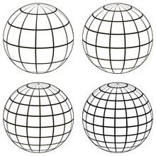 Set 3D Ball Globe Model Of The...