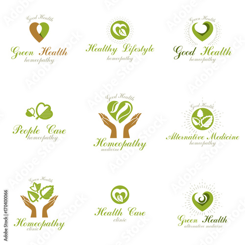 Homeopathy Creative Symbols Collection Naturopathy Conceptual