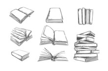 Books Vector Collection. Pile ...